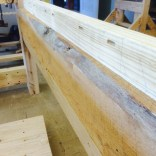 Note the live edge since we're really looking for mass, thickness, and support. Don't do more than is needed.