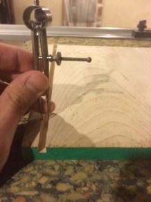 Checking progress on a scrap piece