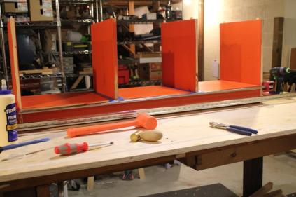 You can see the back stabilizer as I'm doing the glue up.