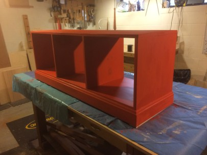 After two coats of polycrylic as a top coat.