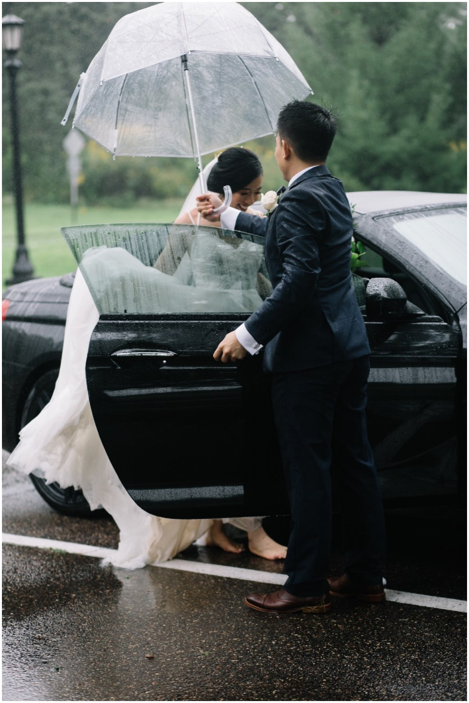 rainy day wedding in saint paul, minnesota