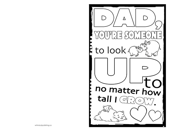 father s day card to print colour