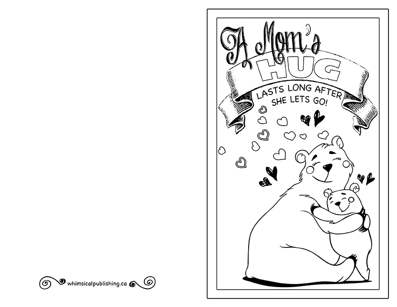 image relating to Printable Mothers Day Cards to Colour in referred to as Printable Moms Working day Card in the direction of Coloration