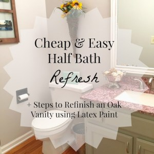 Some TLC for the Forgotten Half Bath