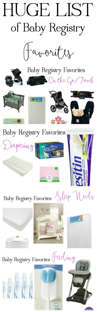 Huge List of Baby Registry Favorites