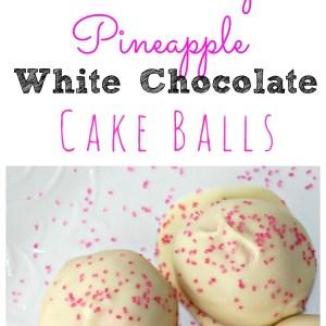 Strawberry Pineapple White Chocolate Cake Balls