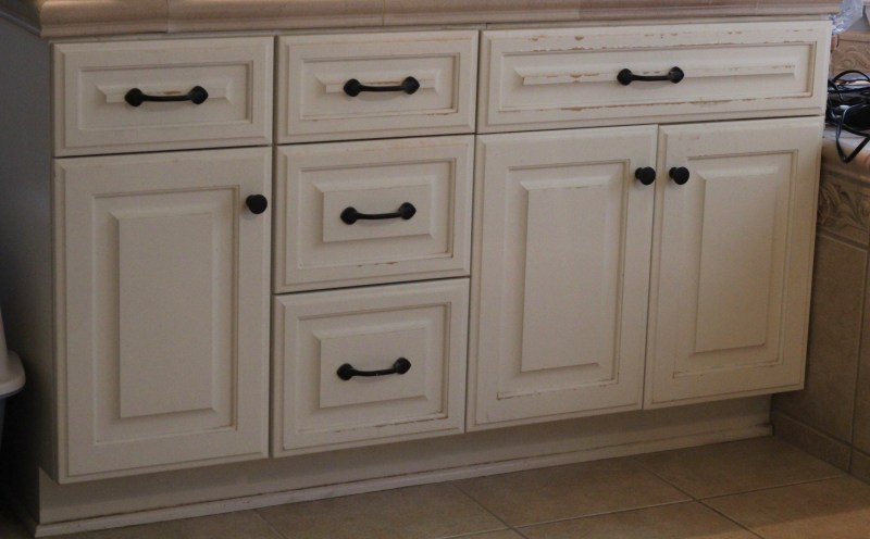 Diy Refinished Bathroom Vanity With, Refinish Bathroom Cabinets