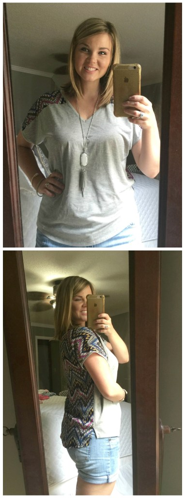 Stitch Fix - Pixley Indian Graphic Print Mixed Material Tee