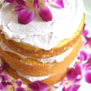 Lemon Cake with Lavender Frosting