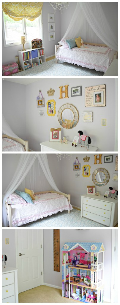 Bedroom for a 3 year old girl: We transitioned our daughter's nursery into a beautiful, light, airy, big girl room full of pastels and whimsy. It's full of new pieces as well as collected family pieces, and she loves it as much as we do. In this post you'll see a full list of sources, paint colors, and more.