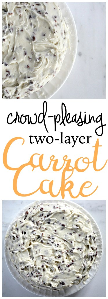 After making this two layer carrot cake one time, you'll never bake a different carrot cake again. This cake is rich, creamy, and perfect for all kinds of occasions and seasons (not just birthdays). The prep is easy with simple ingredients likely already in your house. Enjoy immensely!
