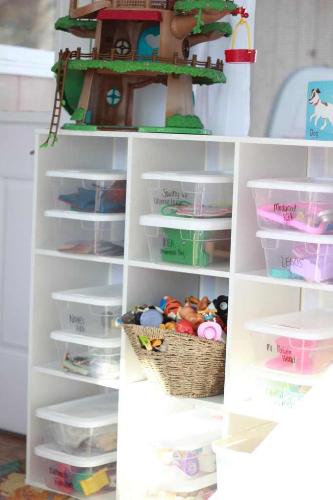 Full playroom resource list and storage/organization ideas!