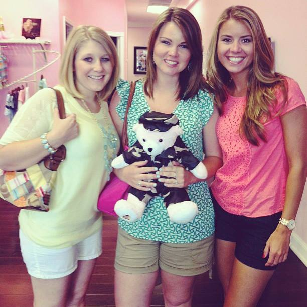 {my two best friends at Hadley's gender reveal}