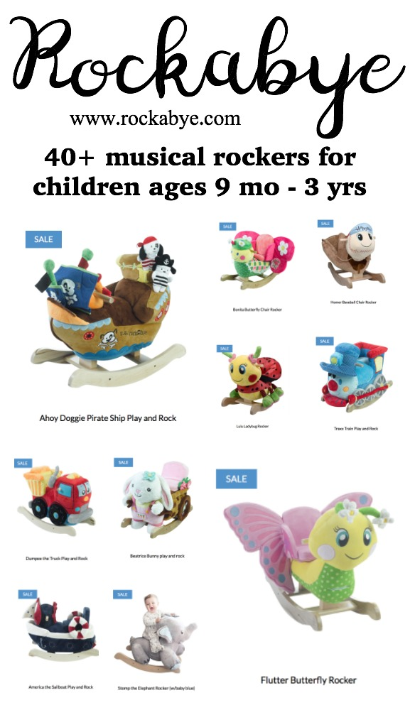 Rockabye Rockers: the sweetest gift for a baby or toddler! They're musical and plush and so well crafted! Rockabye.com