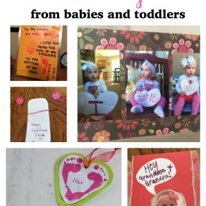 Homemade Valentines from Baby or Toddler