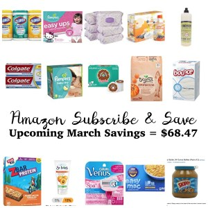 Our Upcoming Deals with Amazon Subscribe & Save – March 2017