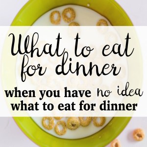 I Have No Idea What to Make For Dinner: What We Eat When We Have No Idea What to Eat