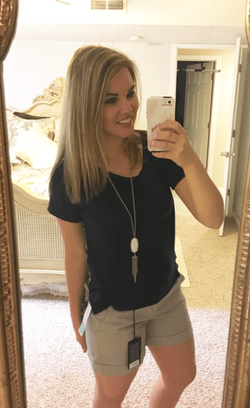 Whimsical September Stitch Fix Review April 2017: Honey Punch Mix Material Top