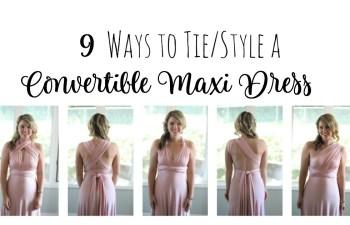 9 Ways to Wear a Convertible Maxi Dress