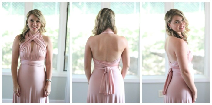 This post shares nine convertible dress styles and ways to tie it. A convertible dress is a perfect option for an formal event, whether it's a wedding, military ball, charity event, school formal, and more. This is also a wonderful bridal party option. Click here to read more and draw inspiration about how to tie a convertible dress.
