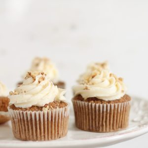 Carrot Cake Cupcakes Recipe with Homemade Buttercream Icing