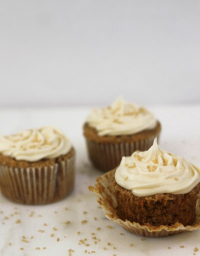 Carrot Cake Cupcakes with Homemade Buttercream Icing