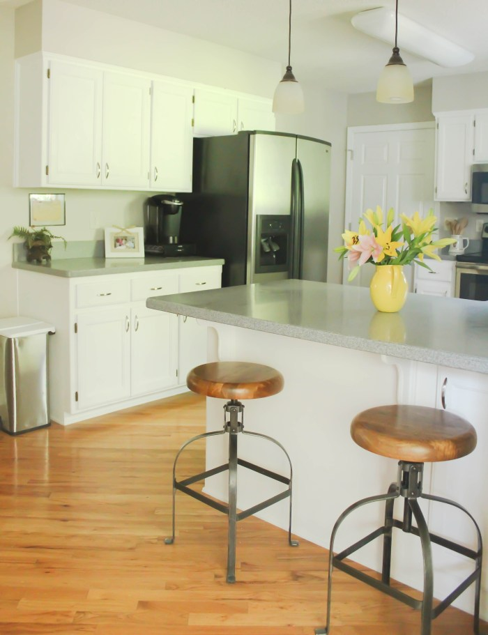 Chalk-Painted Kitchen Cabinets Transformation: From Honey Oak to Bright White