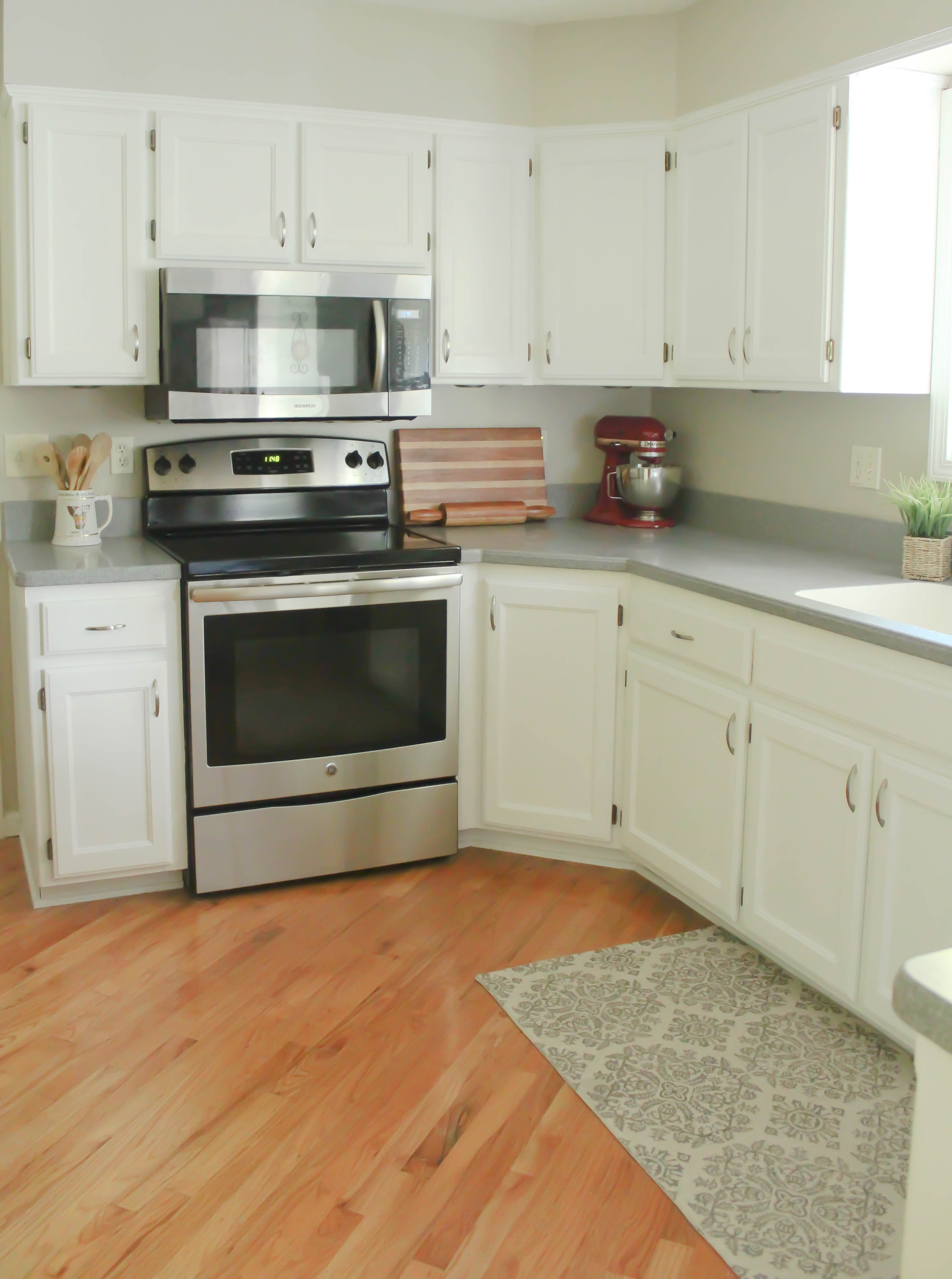 ChalkPainted Kitchen Cabinets Transformation From Honey Oak To Bright White