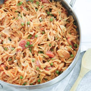 Easy, Cheesy Stovetop Chicken and Noodles