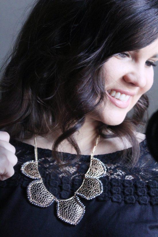 Stitch Fix: Bancroft Aliza Filigree Teardrop Necklace | Whimsical September