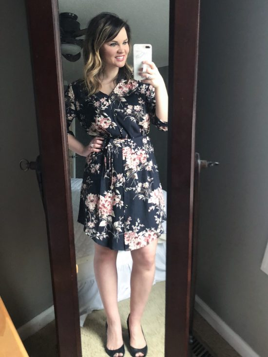 Whimsical September | Stitch Fix Review February 2018 |41 HAWTHORNCristen Shirt Dress
