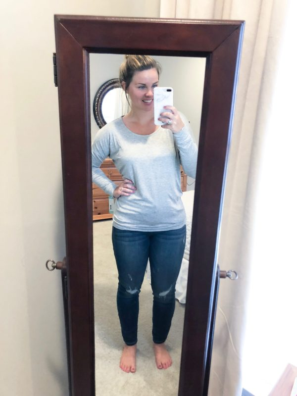 STITCH FIX August 2018 |Andrew Mac Performance: Fiah Twist Back Knit Top