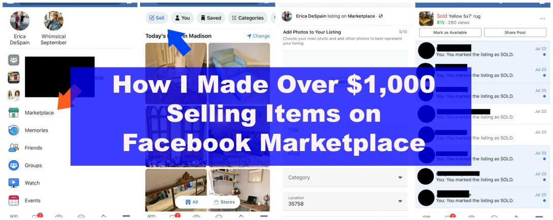 How I Made Over $1,000 Selling Items on Facebook Marketplace