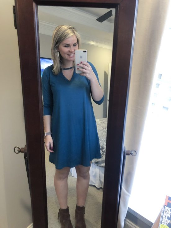 Stitch Fix Review | Whimsical September | NINE BRITTON Kolda Brushed Knit Dress