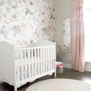 A Floral Pink and Gray Nursery for Jillian