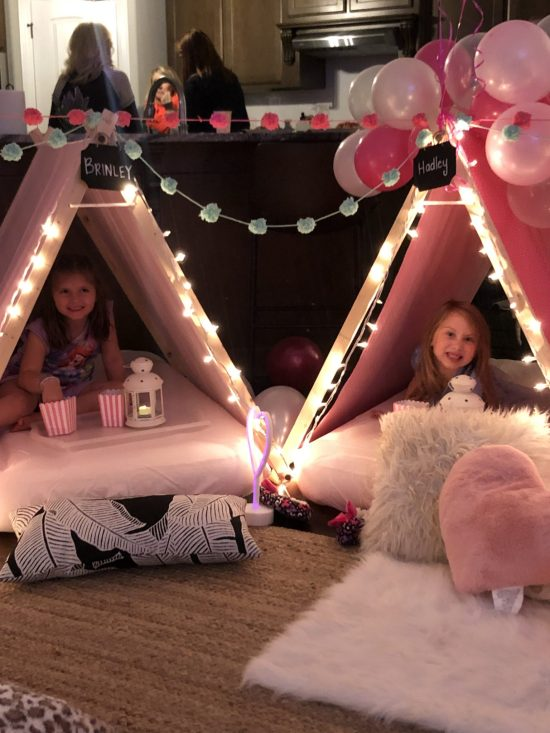 Southern Sleepovers: This post shares ideas for decorations, activities, games, food, cake, snacks, and more for throwing...