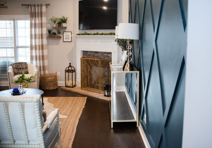Statement Wall , Accent Wall ,The Design Process & Reveal of Our Living Room Overhaul: Pottery Barn York, Pottery Barn Harlow, Pottery Barn Lorelei