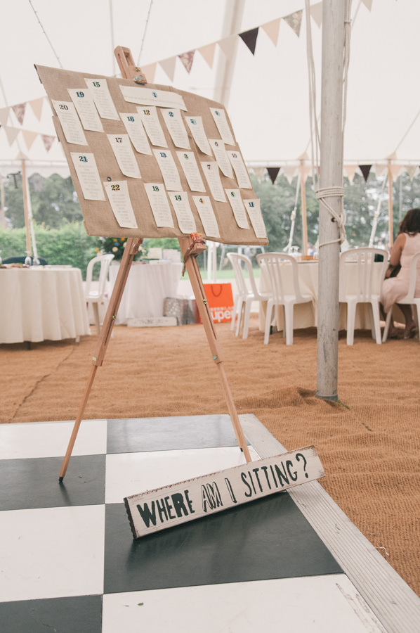 Hessian Table Plan Sweet Village Fete Wedding http://www.tohave-toholdphotography.co.uk/