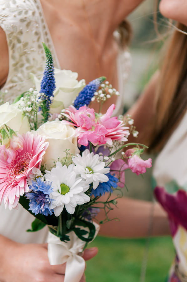 White Pink Blue Bouquet Sweet Village Fete Wedding http://www.tohave-toholdphotography.co.uk/