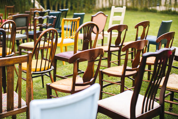 Mismatched Chairs Pretty Charming Barn Wedding http://albertpalmerphotography.com/
