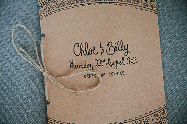 Relaxed Colourful Flower Filled Wedding Brown Paper Stationery http://www.blissfulwedding.co.uk/
