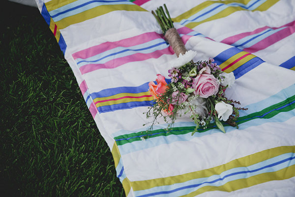 Relaxed Colourful Flower Filled Wedding Bridesmaid Bouquet http://www.blissfulwedding.co.uk/
