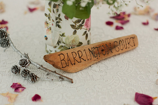 Happy Country Back Garden Wedding Wood Table Names http://www.samanthawardphotography.co.uk/