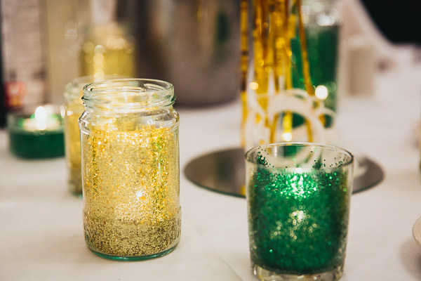 Brighton Sea Front Sequin Glitter Wedding Glitter Jam Jar Candles http://www.redonblonde.com/