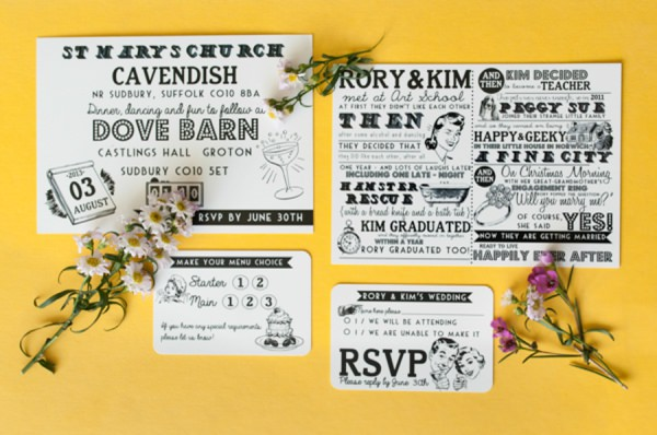 Hey You Quirky Wedding Stationery