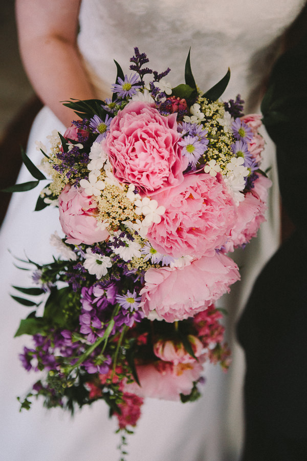 Country Pink Wedding Peony Cascading Shower Bridal Bouquet http://kevinbelson.com/