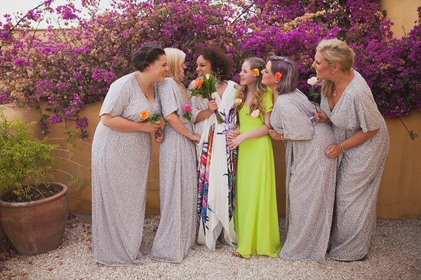 Chilled Colourful Marrakech Wedding Silver Sequin Bridesmaids Neon http://www.sallytphotography.com/