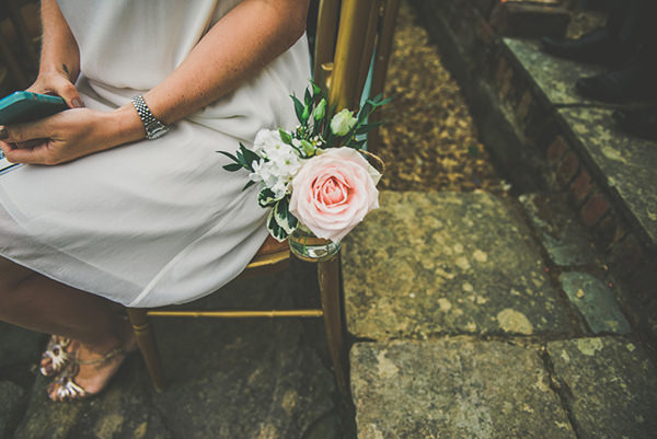 Chic Sophisticated Northern Ireland Wedding Rose Aisle Chair Decor http://paulagillespie.com/