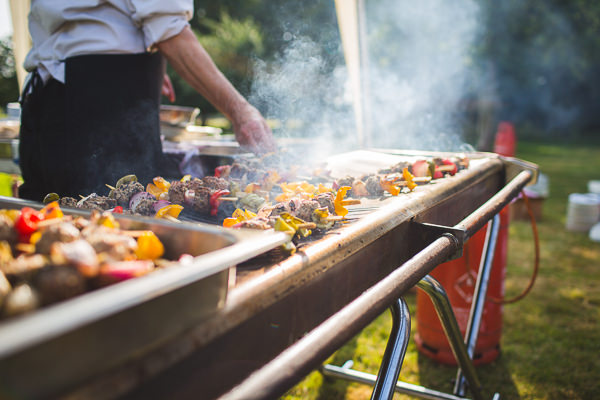 Outdoor Camping Tipi Orange Wedding BBQ http://kategrayphotography.com/
