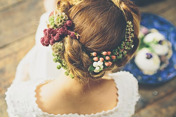 Bridal Hair Style Flowers Halo Moroccan Nights Wedding Ideas http://www.jessicawitheyphotography.com/